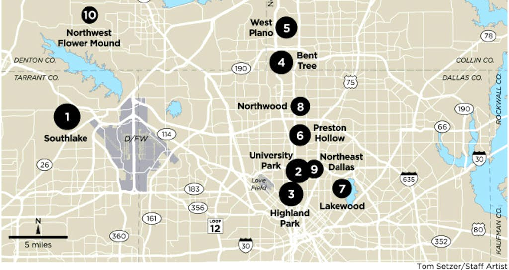 best neighborhoods top 10 places for wealthy dallas area homebuyers news dallas news