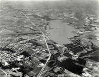 This aerial photo from June 1926 shows very little development around White Rock Lake. By 1926, just 15 years after the dam's completion, the lake no longer met the city's water needs despite predictions it would be the major source for 100 years.