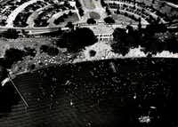 An aerial view of White Rock Beach in June, 1946.