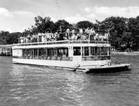 Johnny Williams brought the Bonnie Barge to White Rock Lake in 1946 and, for the next 10 years, provided afternoon and moonlight cruises. The barge held about 150 people and was a favorite spot to dance or find that quiet, dark corner with a favorite sweetheart. The1956 ordinance limiting boats to a maximum of 10 horsepower ended the Bonnie Barge's days on the lake.
