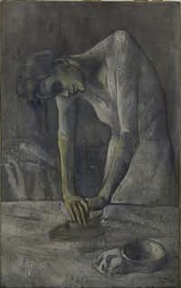 "Picasso's ""Woman Ironing,"" from the Solomon R. Guggenheim Museum in New York, Thannhauser Collection, clearly shows the influences of El Greco."