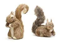 Nuts: Fanciful squirrels of dried grass and bark nest among limbs on a Christmas tree or stand sentinel at holiday place settings. $14-$31 at St. Michael's Woman's Exchange