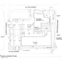 A new apartment building will be constructed next door to the church which will be redeveloped. (City of Dallas)